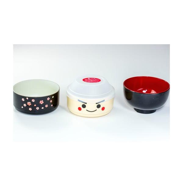 Dětský svačinový box Kokeshi Black, 440 ml