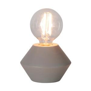 Béžovošedá dřevěná stolní lampa Best Season Grace