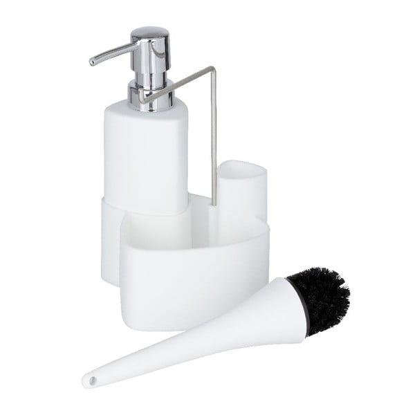 Bílý set na mytí nádobí Wenko Empire
