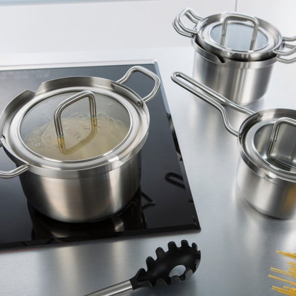 Nerezový hrnec na vývar BK Cookware Q-linair Master Glass, 24 cm