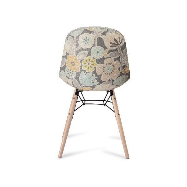 Szare krzesło z nogami z drewna bukowego Furnhouse Sun