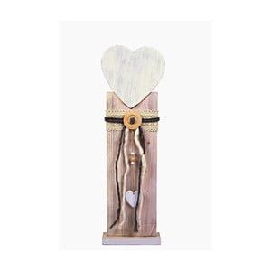 Dřevěná dekorace Ego Dekor Heart, výška63,6cm