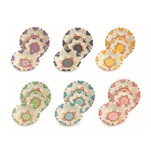 Sada porcelánových talířů Saracino, 18 ks