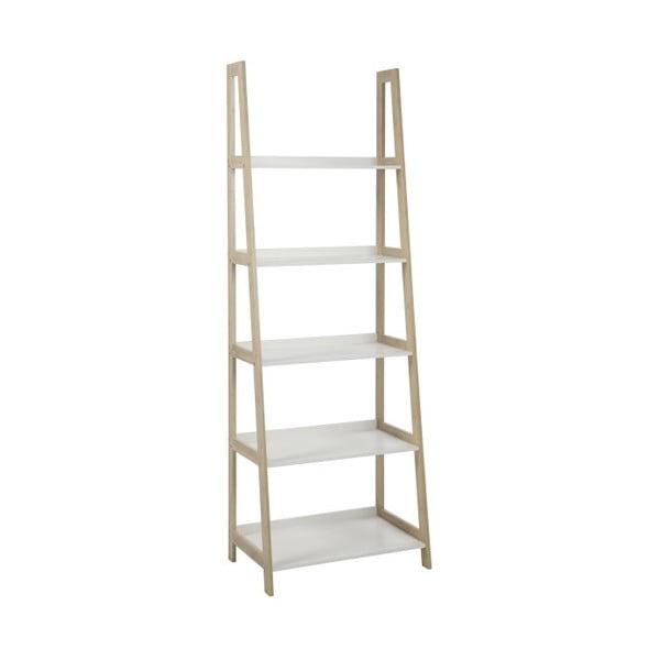 Regál/knihovna Wally, výška 180 cm, bílý