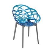 Židle Flora antracit/blue