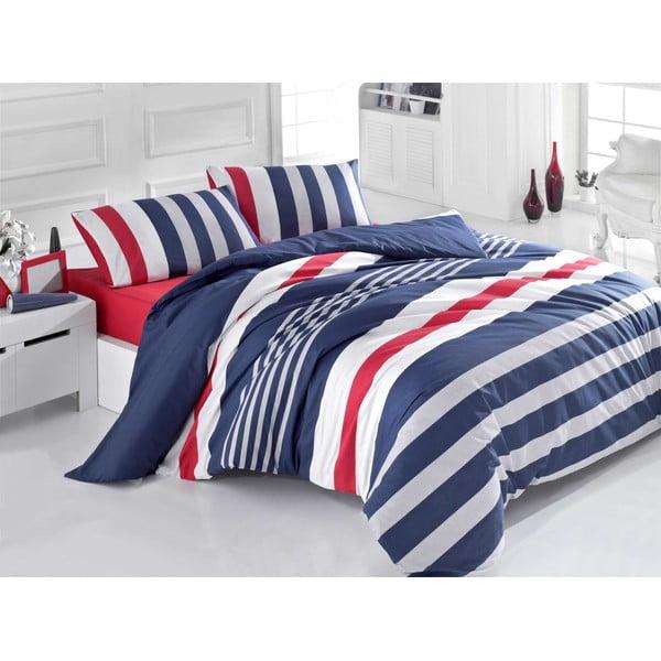 Lenjerie de pat cu cearșaf Stripe, 200x220cm