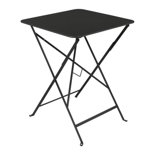 Černý zahradní stolek Fermob Bistro, 57 x 57 cm