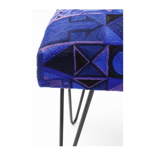 Modrá podnožka Kare Design Etno, délka 80 cm