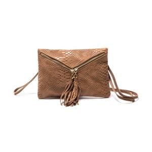 Hnědá kožená kabelka Lara