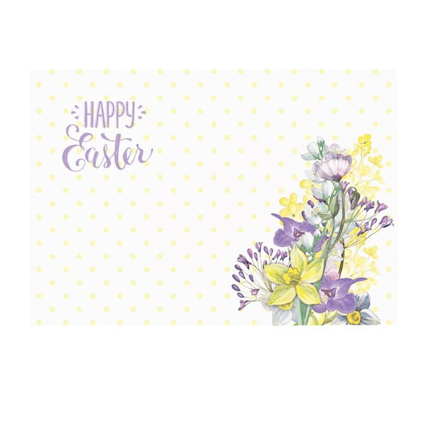 Sada 2 prostírání Apolena Happy Easter Field Flowers, 33x45cm
