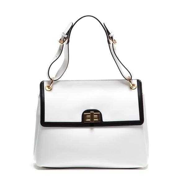 Bílá kožená kabelka Anna Luchini