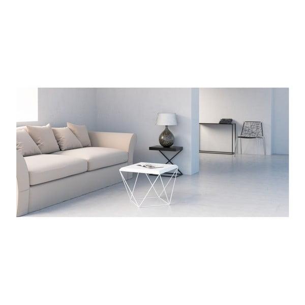 Bílý konferenční stolek take me HOME Tulip, 53x53cm