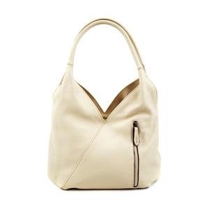 Světle béžová kožená kabelka Roberta M Rosella