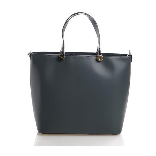 Kožená kabelka Viviana, modrošedá