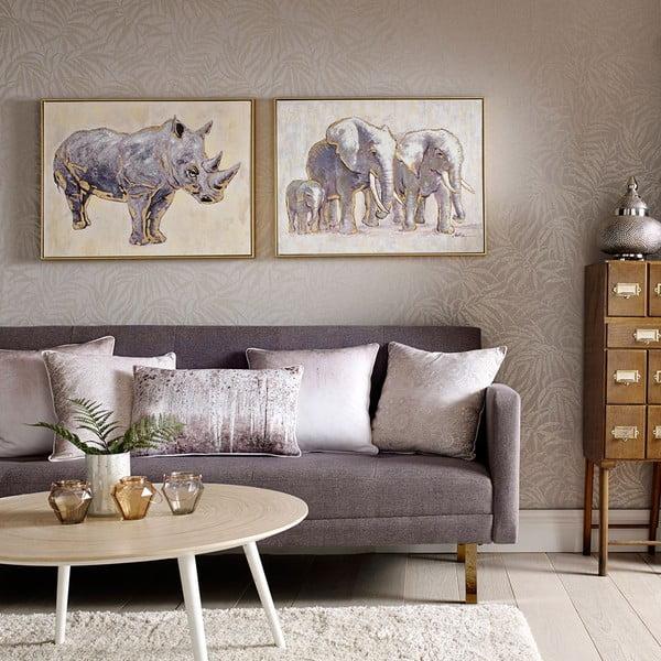 Tablou pictat manual Graham & Brown Elephant Family, 80 x 60 cm