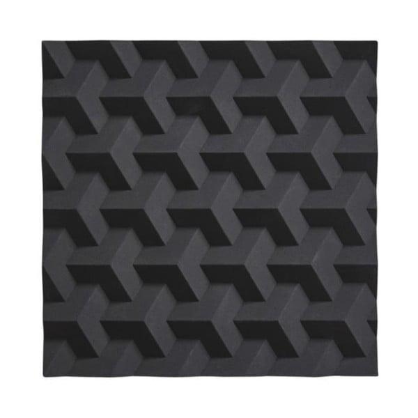 Origami Fold fekete szilikon edényalátét - Zone
