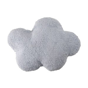 Modrý bavlněný ručně vyráběný polštář Lorena Canals Cloud, 40x50cm