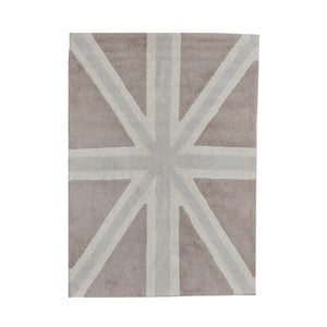 Béžový bavlněný ručně vyráběný koberec Lorena Canals UK, 120x160cm
