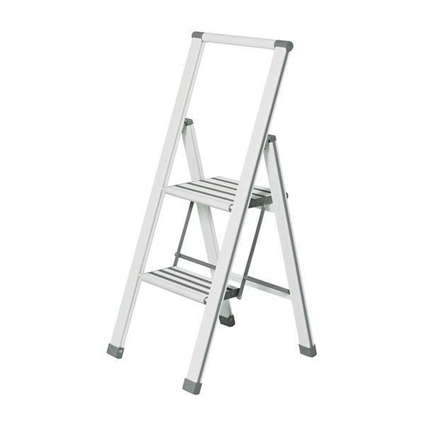 Ladder Alu fehér összecsukható fellépő, magasság 101 cm - Wenko