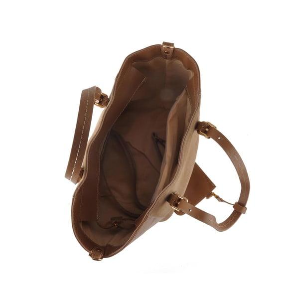 Kožená kabelka Emilio Masi Gomeisa, světle hnědá