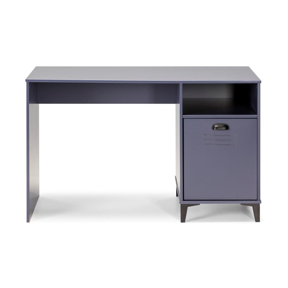 Modrý psací stůl Marckeric Zack, 120 x 75 cm