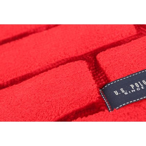Červená koupelnová předložka U.S. Polo Assn. Virginie, 60x100cm