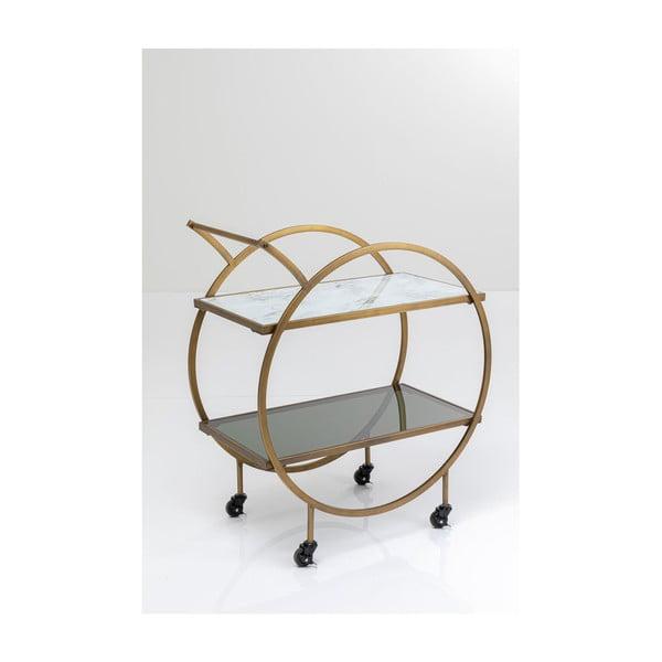 Kovový odkládací stolek nakolečkách Kare Design Loft, výška 85cm