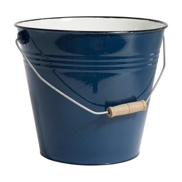 Tmavě modrý smaltovaný kbelík Nordal Madame