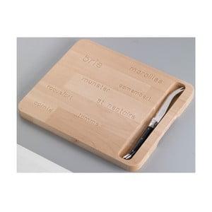 Dřevěné prkénko s nožem na sýry Jean Dubost Natural