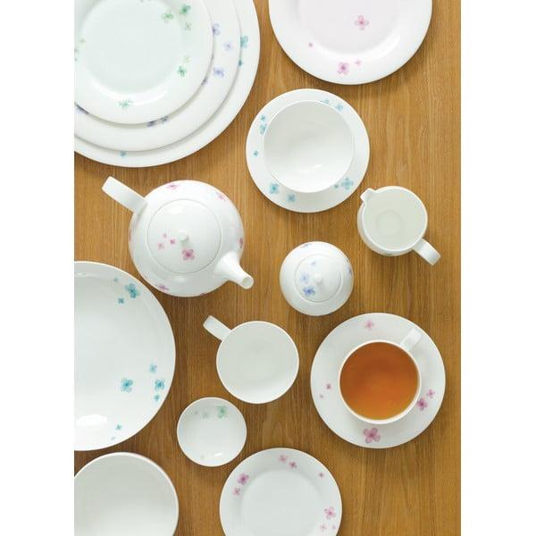 Sada 6 talířů z kostního porcelánu Petal, 27 cm