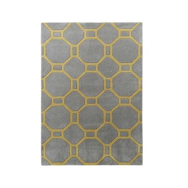 Šedo-žlutý koberec Think Rugs Hong Kong, 90 x 150cm