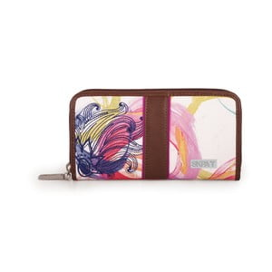 Bílo-růžová peněženka SKPA-T, 19 x 9 cm