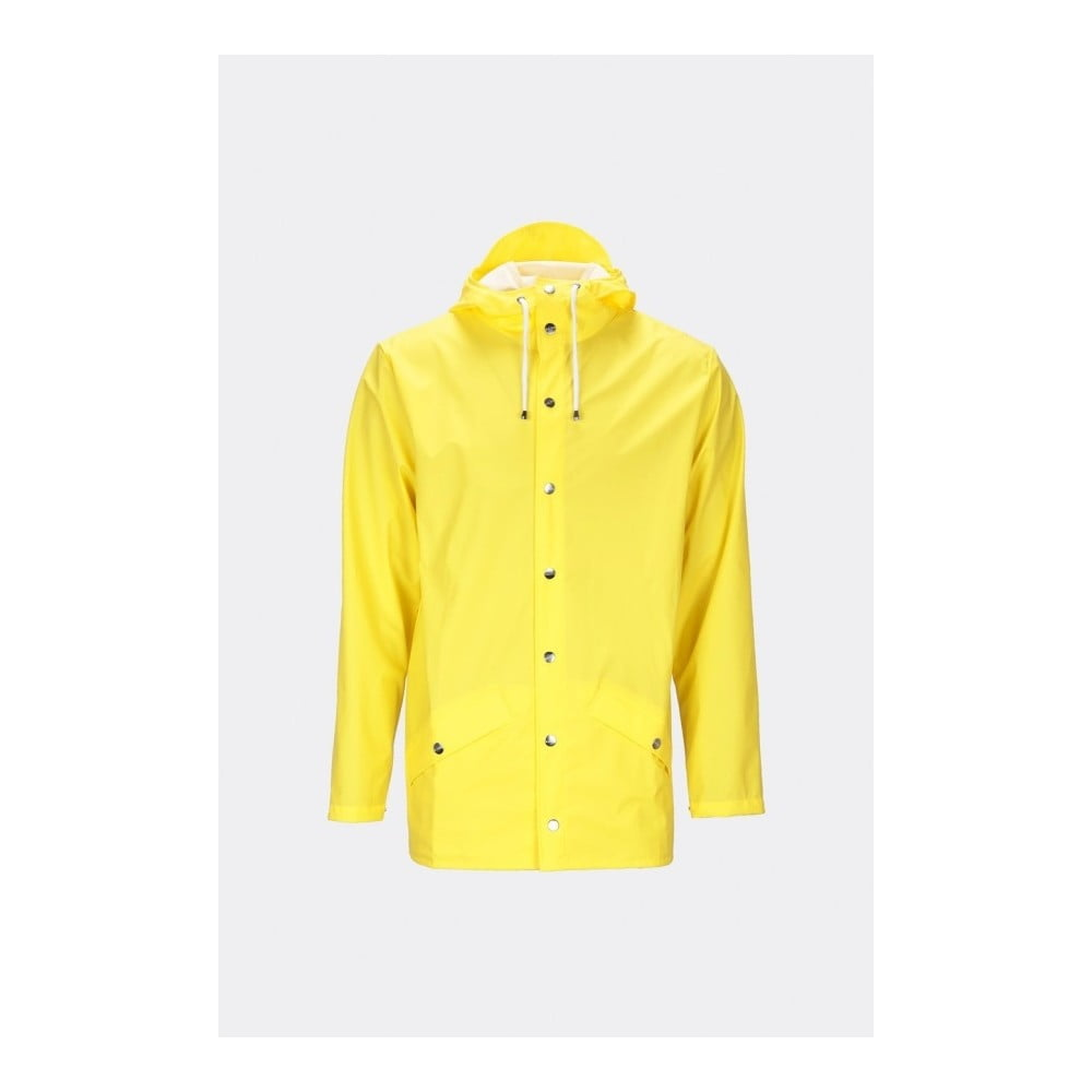 Žlutá unisex bunda s vysokou voděodolností Rains Jacket, velikost XS/S