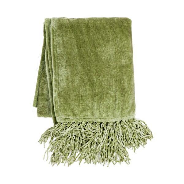 Olivově zelený pléd Tiseco Home Studio Flanelo, 170x130cm