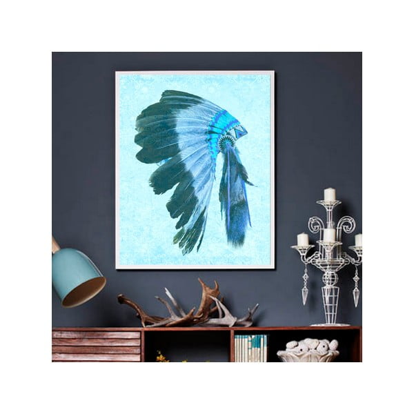 Obraz Indio Blues, 75x100 cm