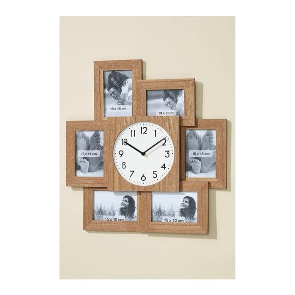 Nástěnné hodiny s fotorámečky Frame