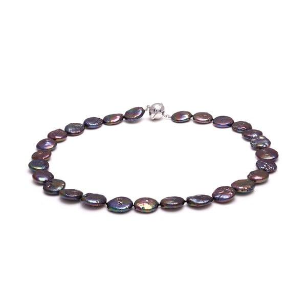 Fialový perlový náhrdelník GemSeller Buglo