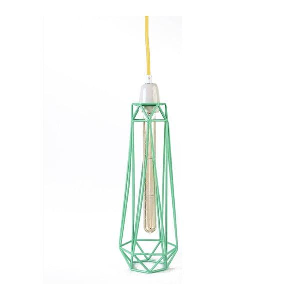 Světlo se zeleným stínítkem a žlutým kabelem Filament Style Diamond #2