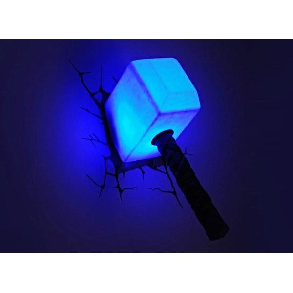 Dětské 3D světlo na zeď Thorovo kladivo