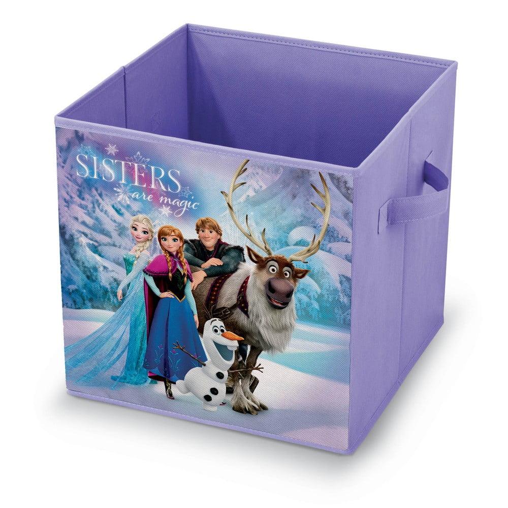 Fialový úložný box na hračky Domopak Frozen, délka 32 cm