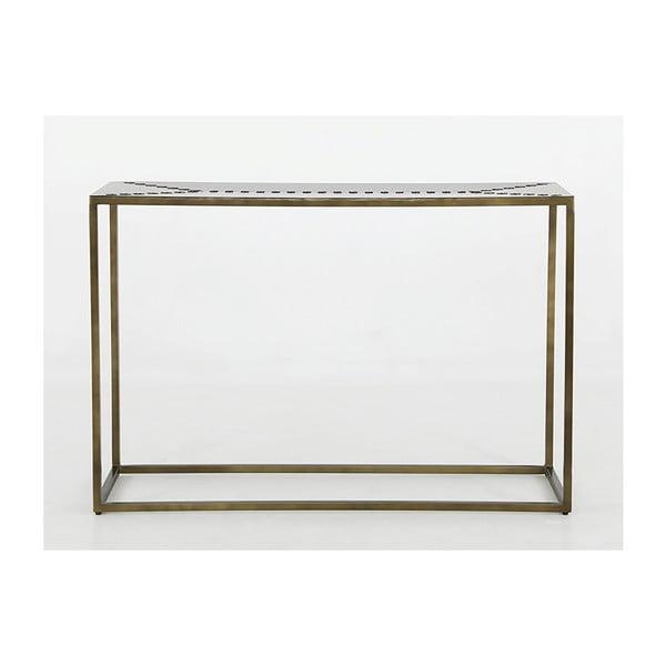 Masă din fier tip consolă Canett Stitch, 40x120cm