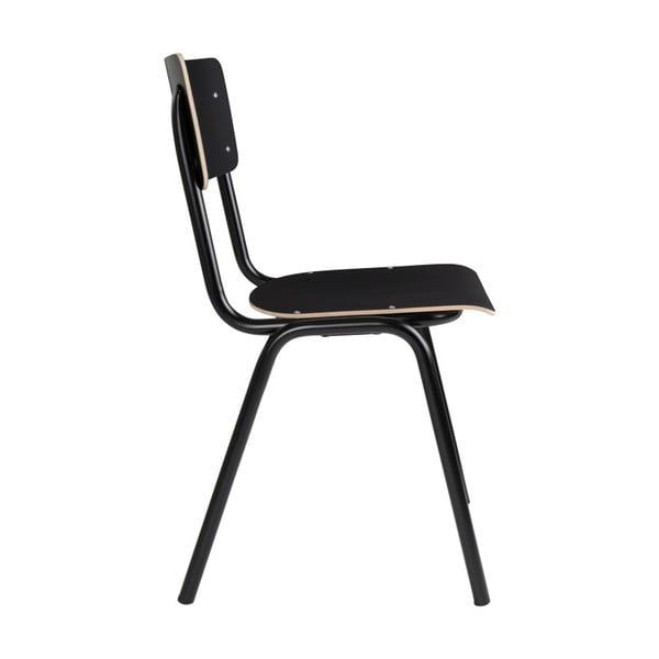 Sada 4 černých židlí Zuiver Back to School
