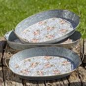 Sada 3 dekorativních kovových podnosů Boltze Margaret