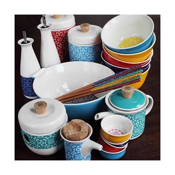 Sada 4 porcelánových lžiček Ching