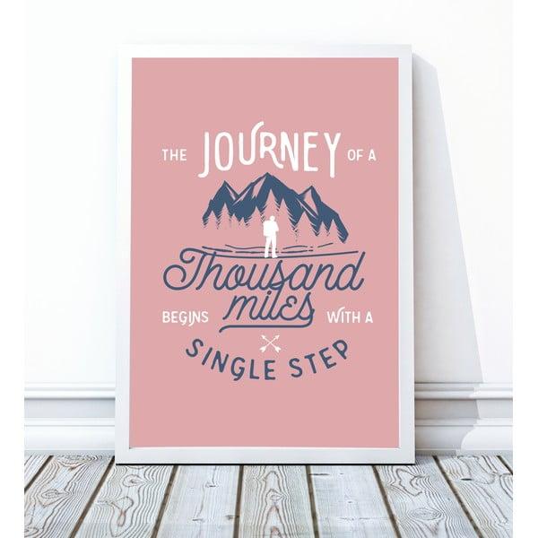 Zarámovaný plakát Single Step, 40x50 cm