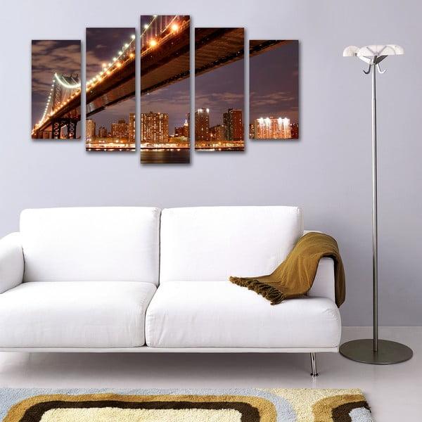 5dílný obraz Pod mostem