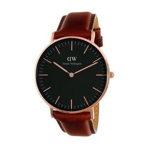 Unisex hodinky s hnědým páskem Daniel Wellington Durham Rose, ⌀36mm