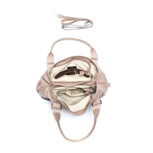 Kožená kabelka Isabella Rhea 2129 Fango
