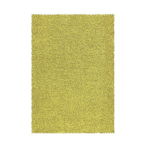 Koberec Shaggy 120x170 cm s 3 cm dlouhým vlasem, limetkový