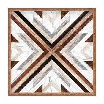 Tavă decorativă din lemn Intarzia, 40x40cm de la Unknown